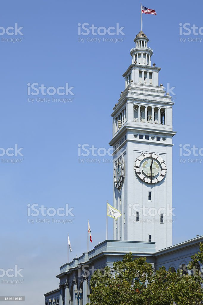 San Francisco Ferry Building royalty-free stock photo