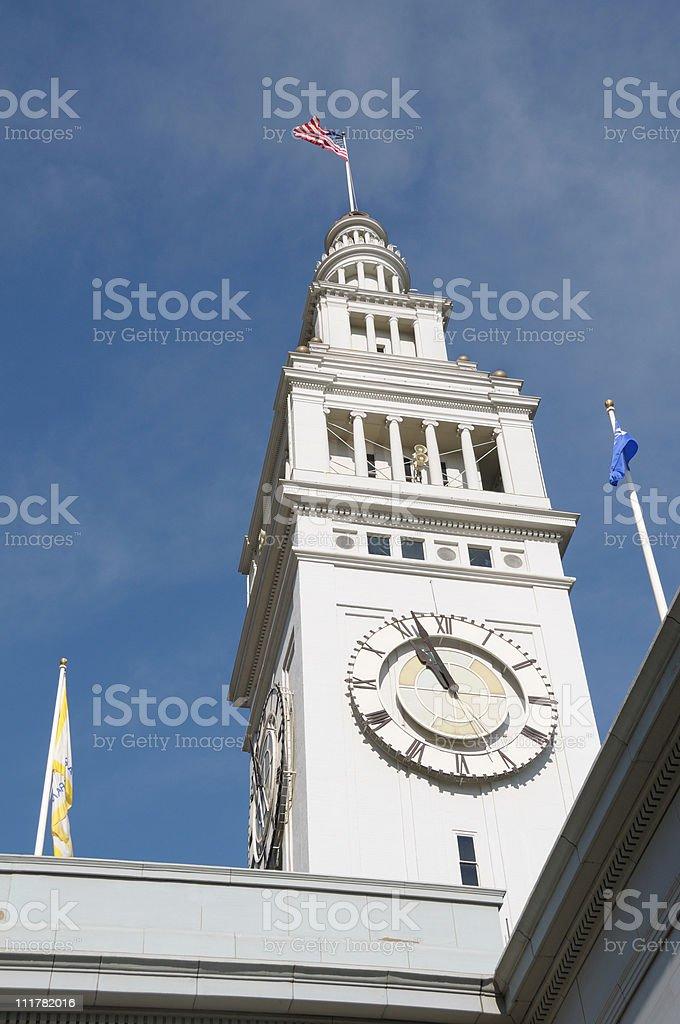 San Francisco Ferry Clock royalty-free stock photo