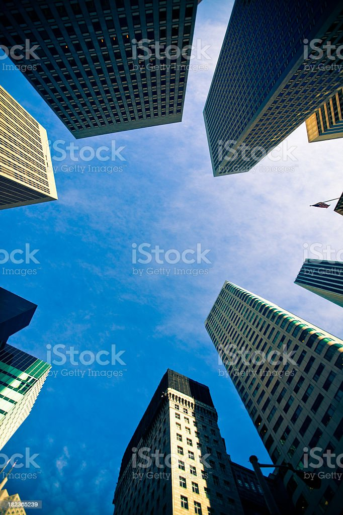 San Francisco Financial District Looking Up royalty-free stock photo
