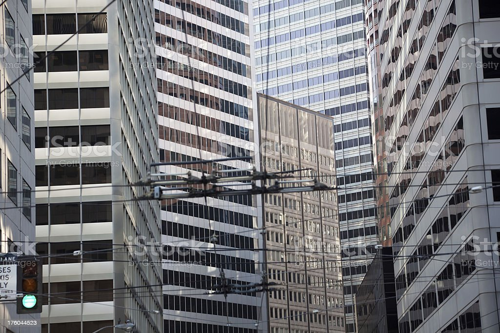 San Francisco Financial District royalty-free stock photo