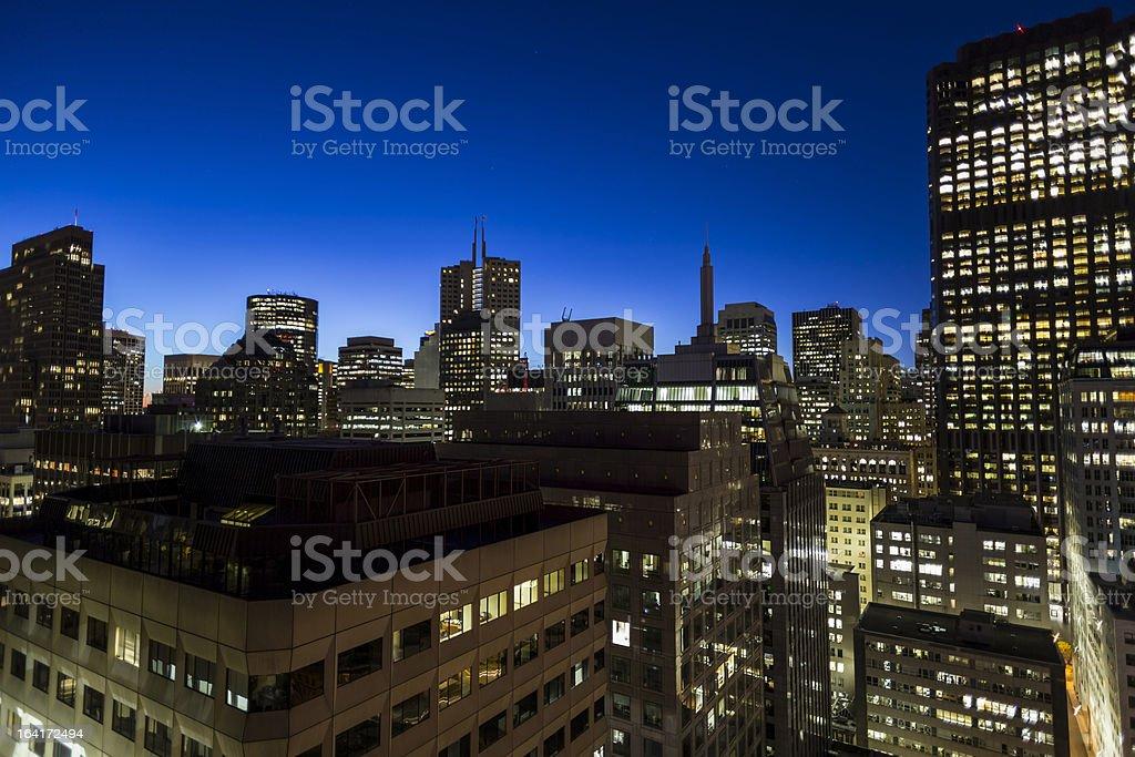 San Francisco Financial District Sunrise royalty-free stock photo