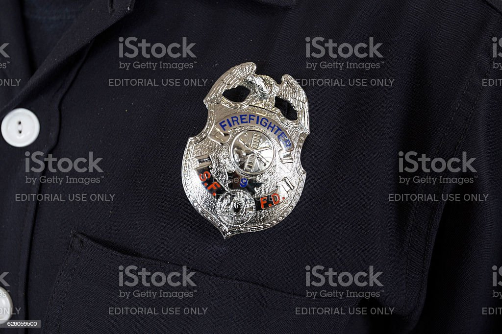 San Francisco Fire Department Firefighter stock photo