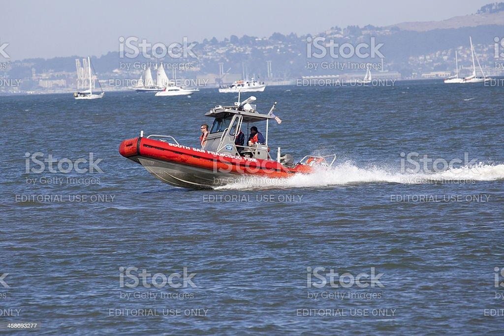 San Francisco Fire Department Patrol Boat royalty-free stock photo