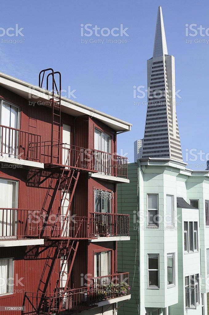 San Francisco Fire Escape stock photo