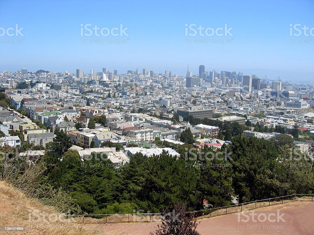 San Francisco from the hill royalty-free stock photo