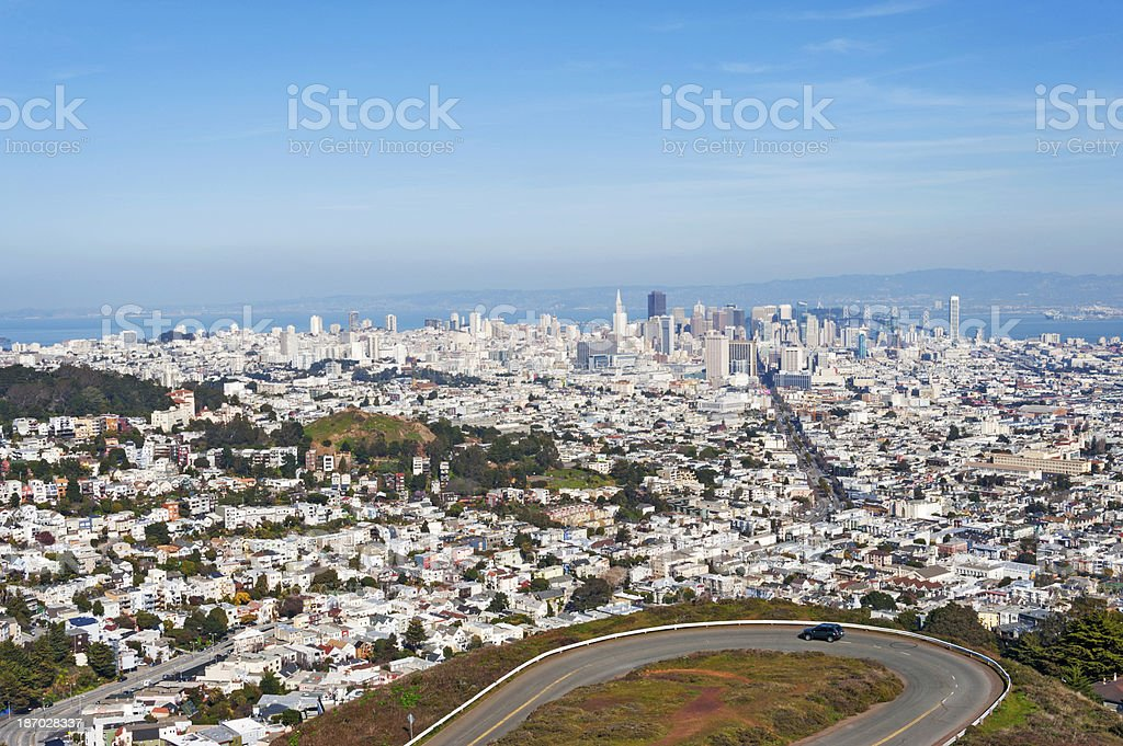 San Francisco from Twin Peaks royalty-free stock photo