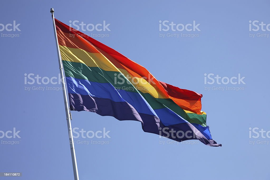 San Francisco: Gay Flag stock photo