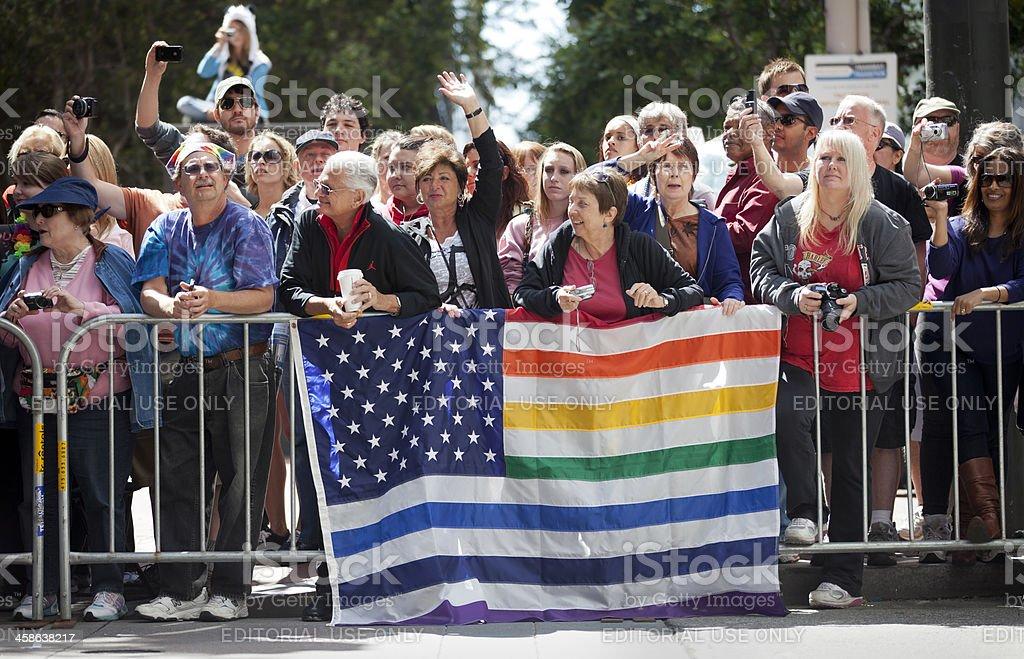 San Francisco Gay Pride Parade royalty-free stock photo