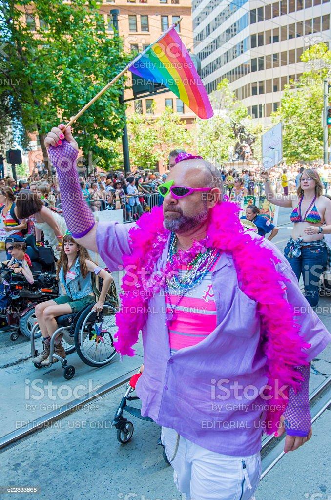 San Francisco gay pride stock photo