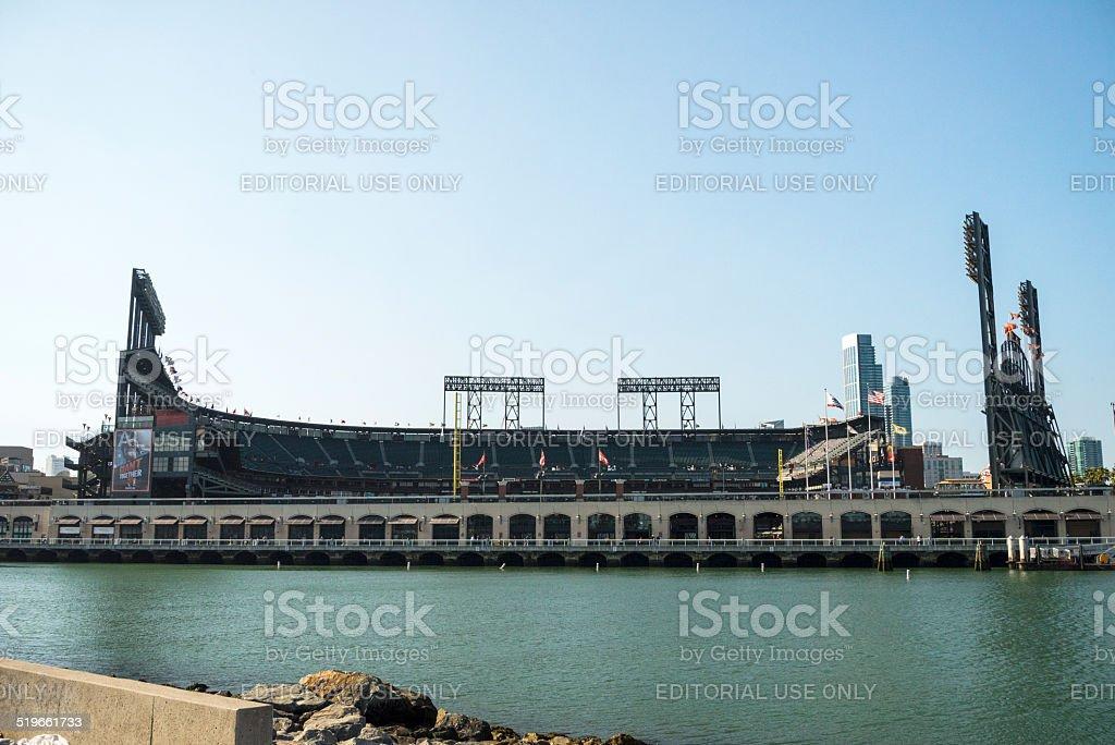 San Francisco Giants Baseball Field stock photo