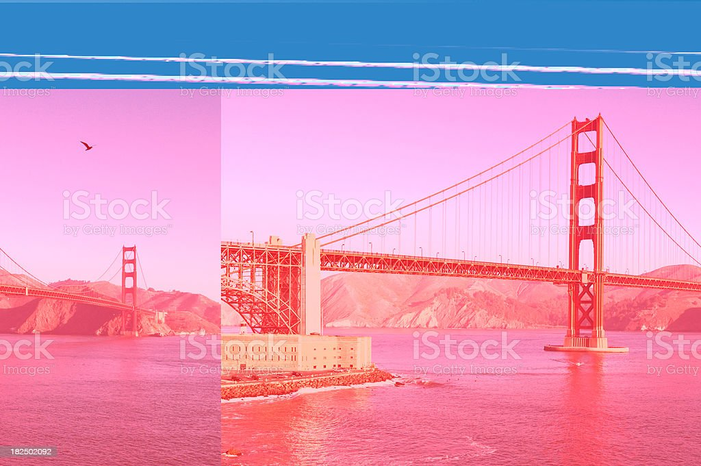 San Francisco Golden Gate Bridge Fort Point Marin Headlands California royalty-free stock photo