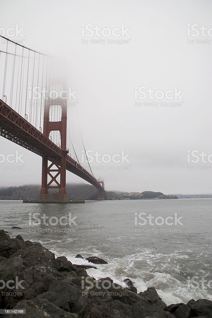 San Francisco: Golden Gate Bridge from Fort Point royalty-free stock photo