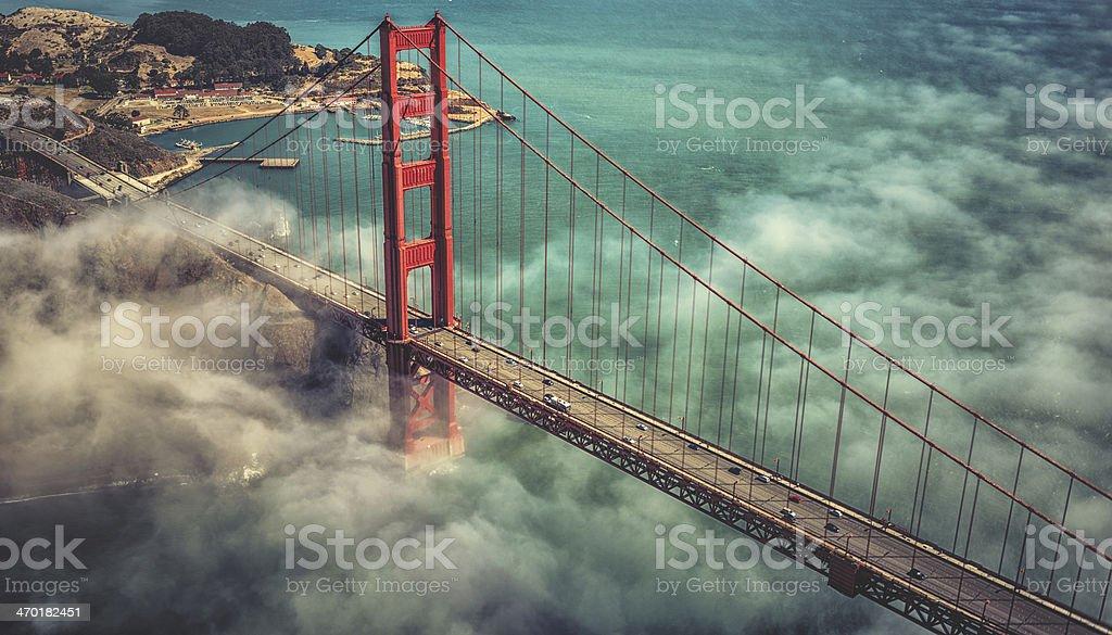 San Francisco Golden Gate Bridge royalty-free stock photo