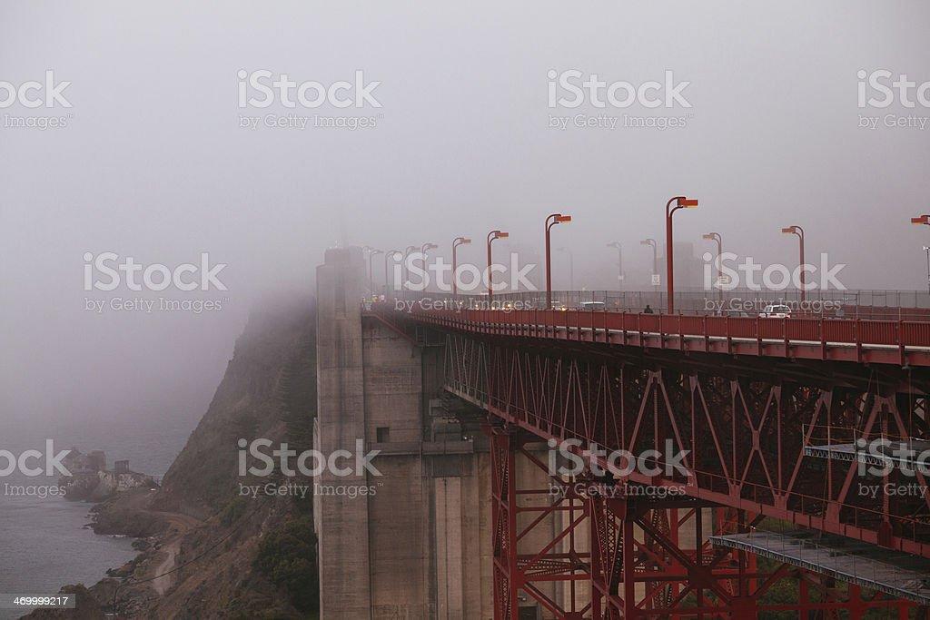 San Francisco Golden Gate in the Fog, California royalty-free stock photo