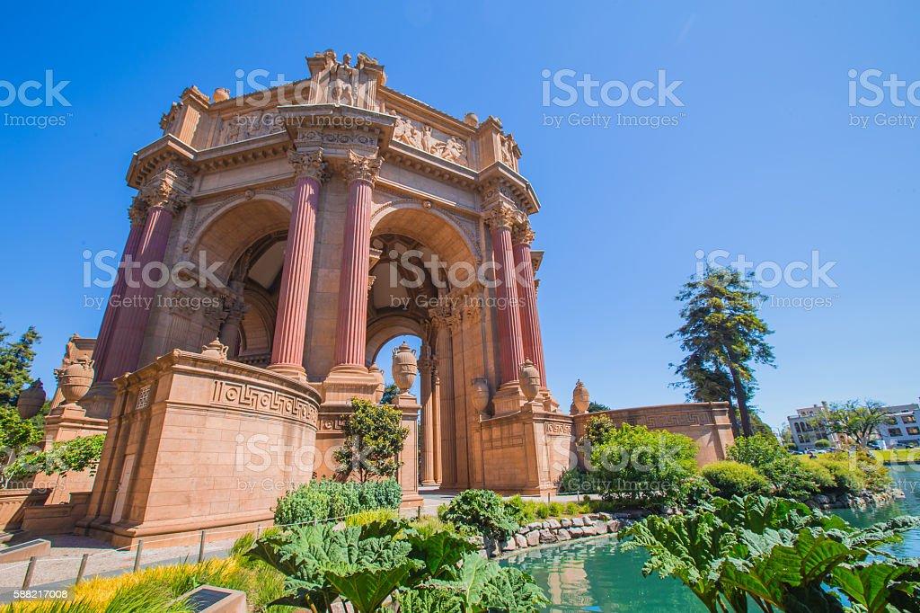 San Francisco golden Palace of Fine Arts stock photo