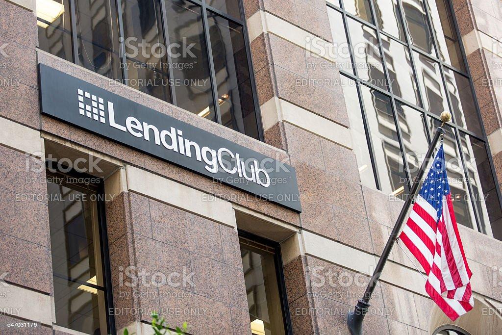 San Francisco Headquarters of Lending Club stock photo