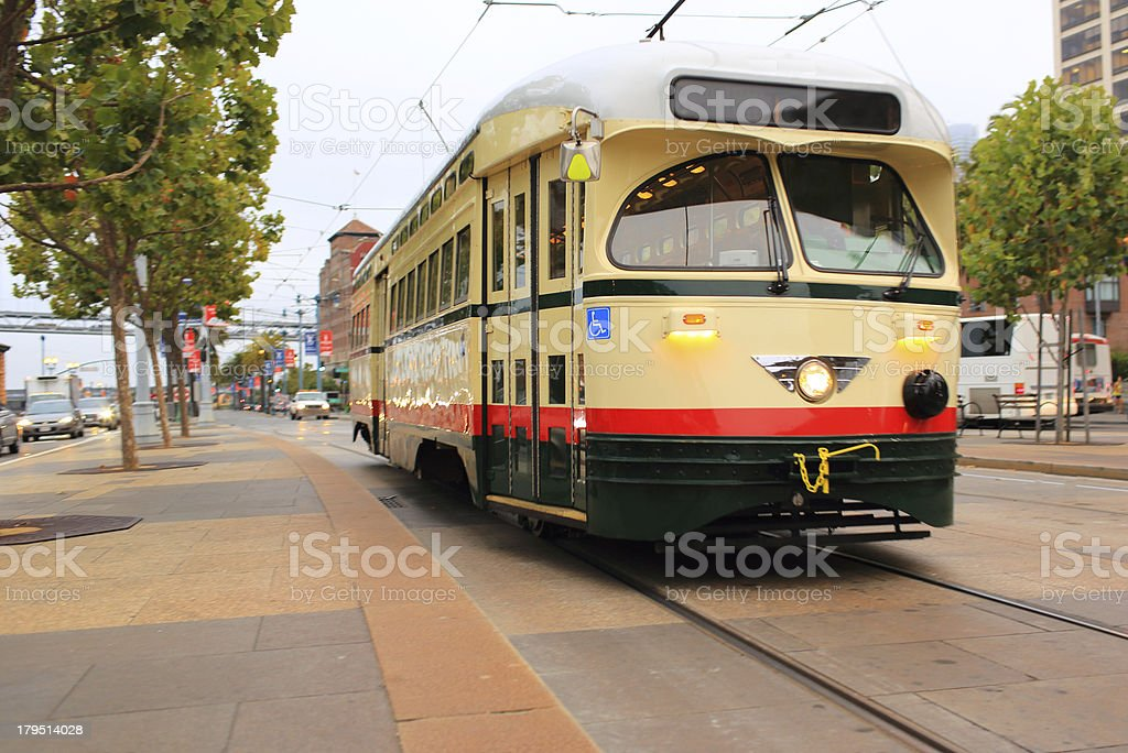 San Francisco: Historical Street Car royalty-free stock photo
