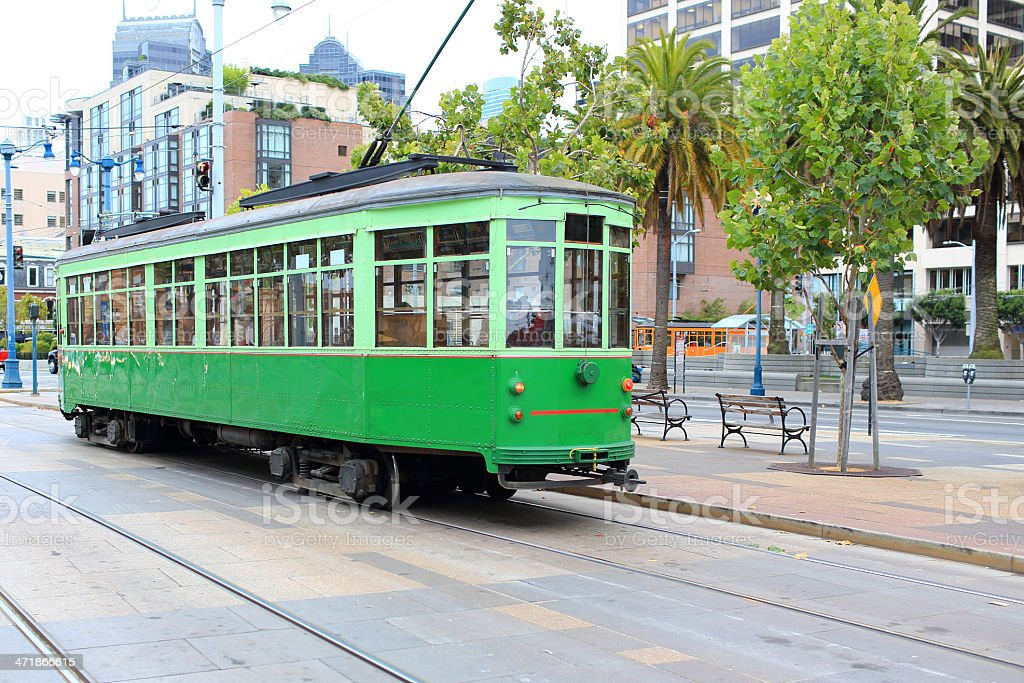 San Francisco: Historical Street Car royalty-free stock photo