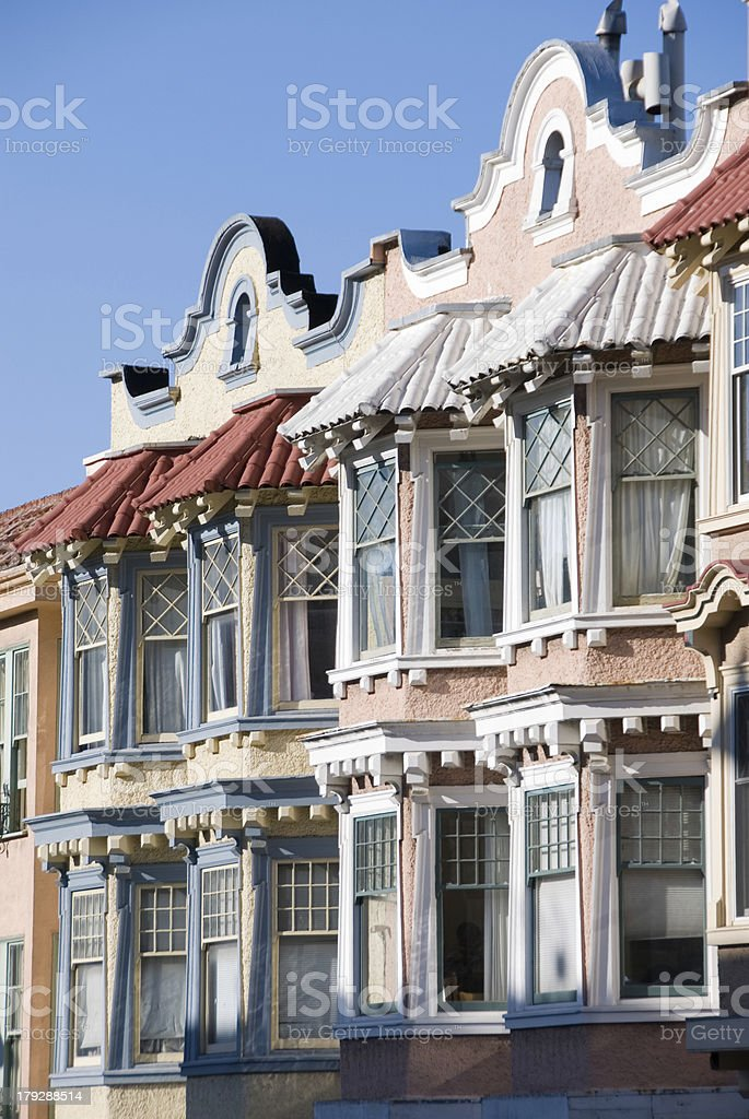 San Francisco houses stock photo
