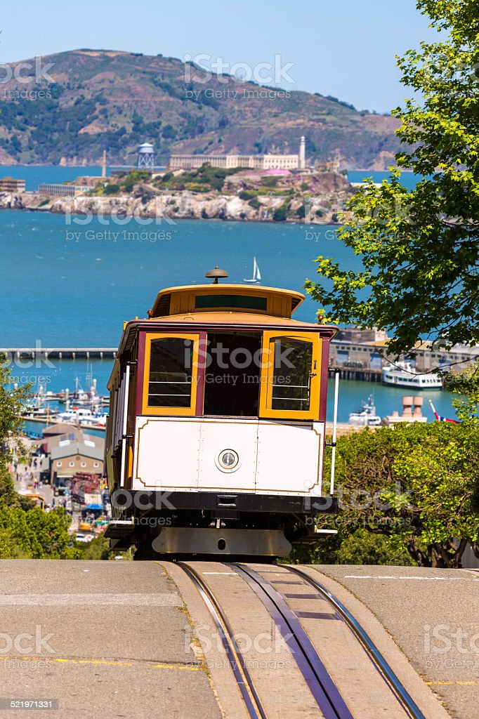San francisco Hyde Street Cable Car California stock photo