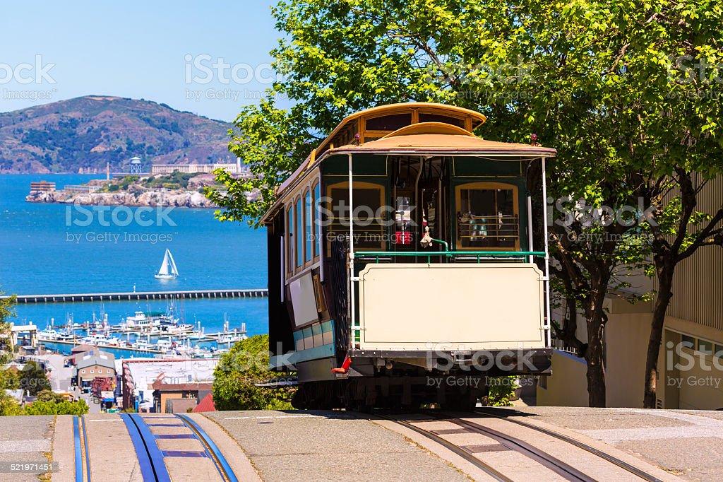 San francisco Hyde Street Cable Car California stock photo