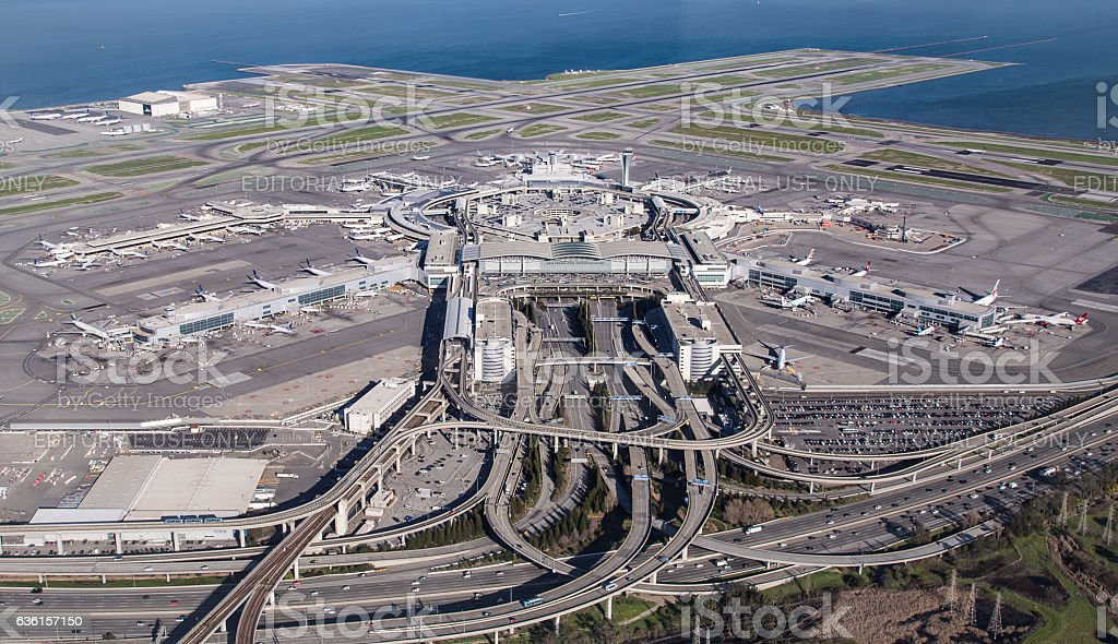 SFO - San Francisco International Airport stock photo
