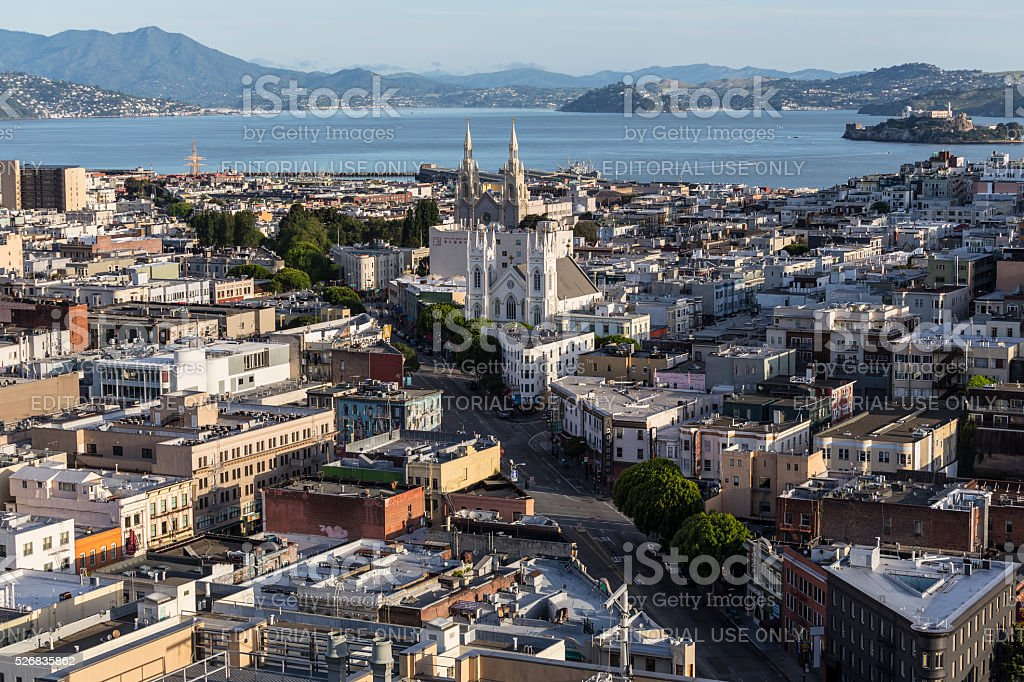 San Francisco Jackson Square Cityscape stock photo
