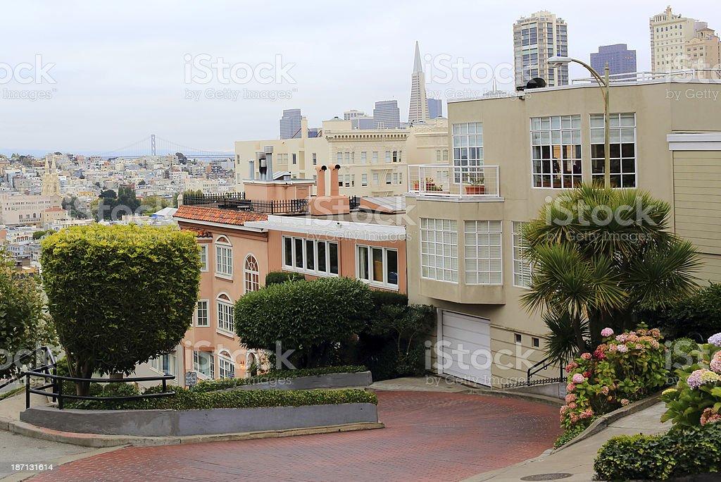 San Francisco: Lombard Street royalty-free stock photo