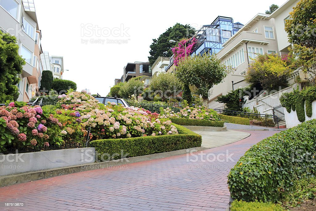 San Francisco: Lombard Street royalty-free stock photo