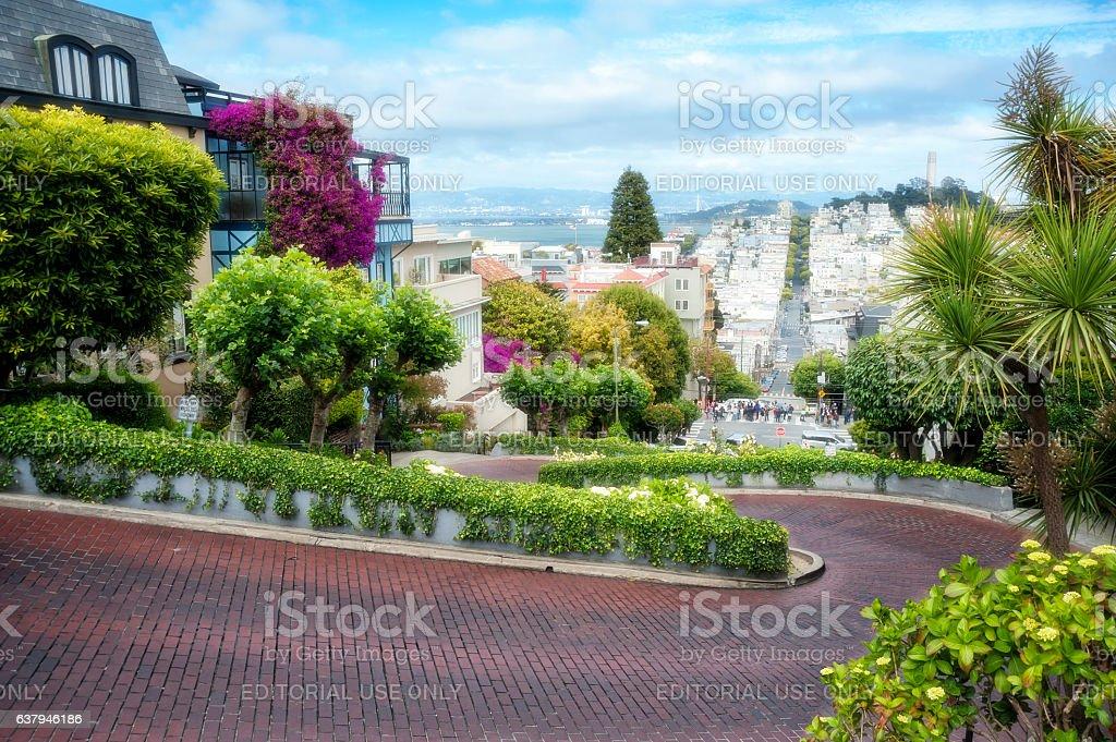 San Francisco Lombard Street stock photo