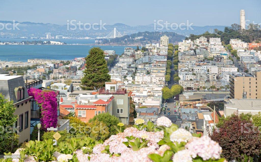 San Francisco, Lombard Street stock photo