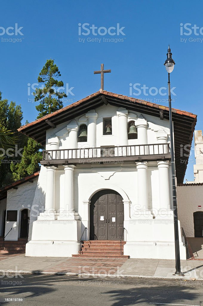 San Francisco Mission Dolores historic landmark Castro California royalty-free stock photo