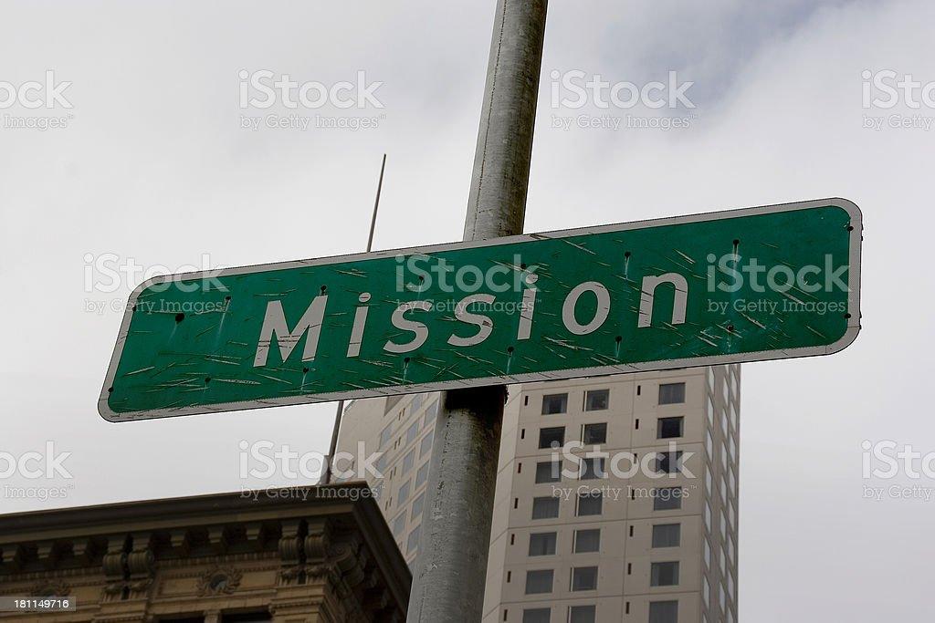 San Francisco: Mission Street royalty-free stock photo