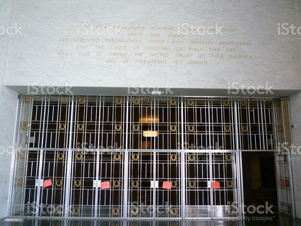 san francisco mormon mural crystal stock photo
