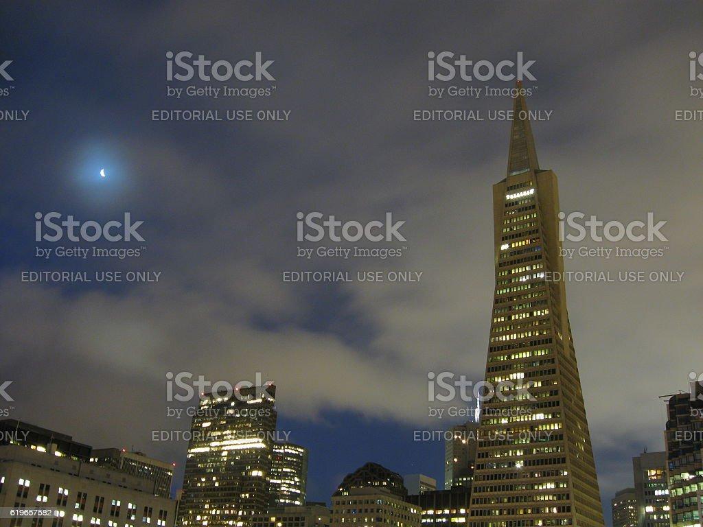 San Francisco Morning Skyline stock photo