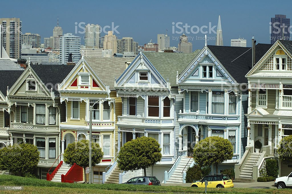 San Francisco most famous view royalty-free stock photo