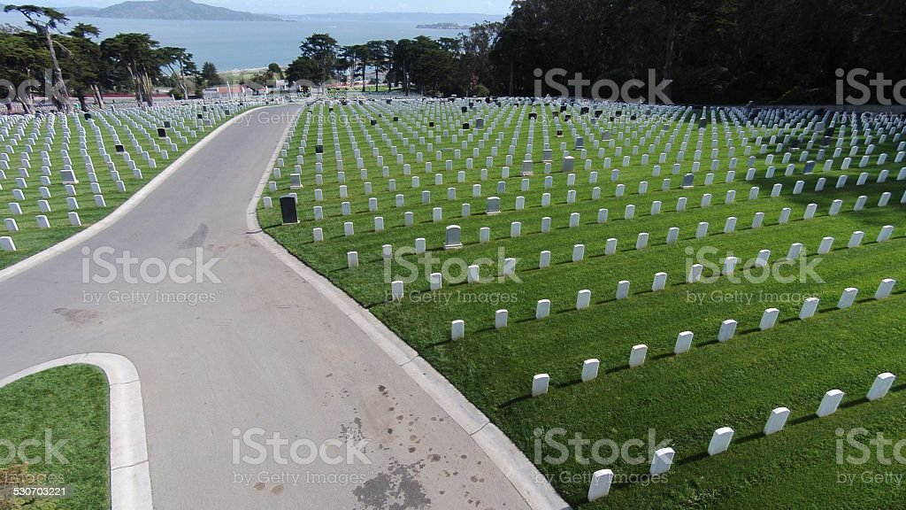 San Francisco National Cemetery stock photo