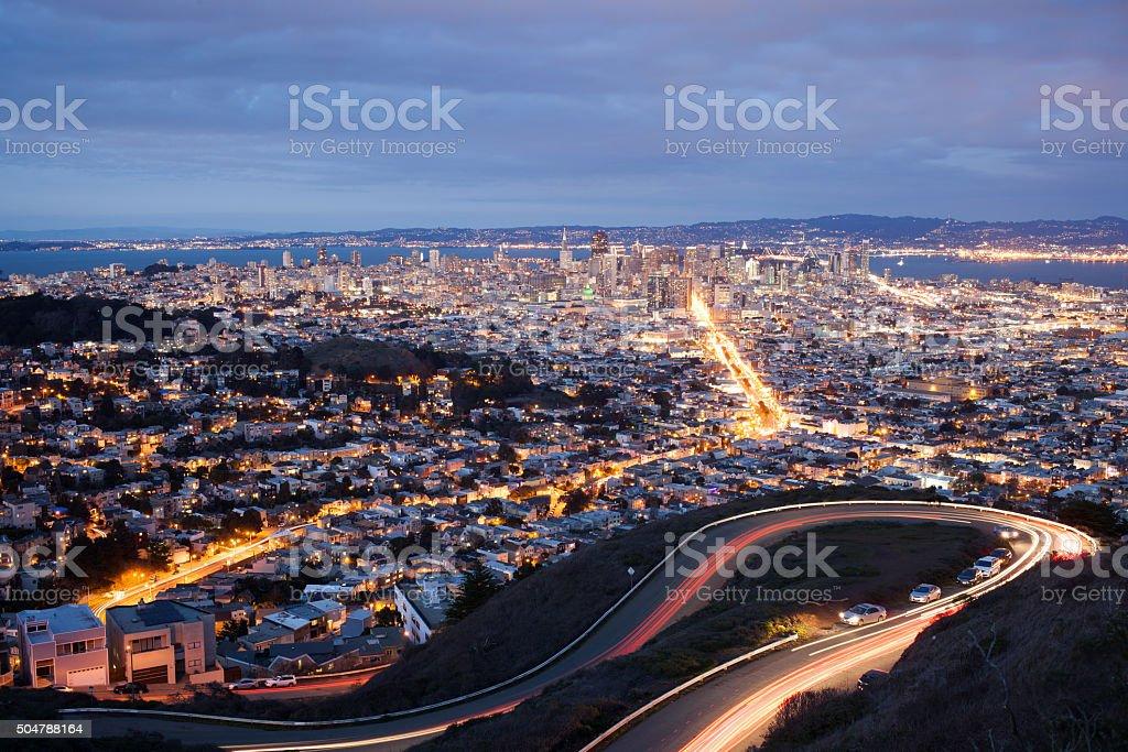 San Francisco Night stock photo