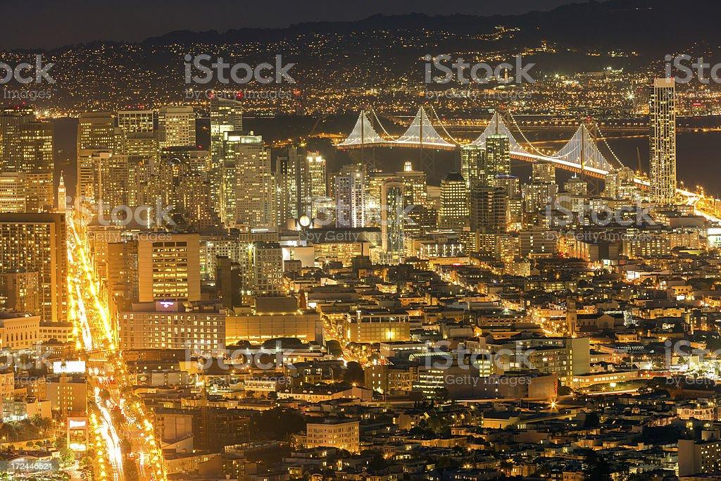 San Francisco Night view royalty-free stock photo