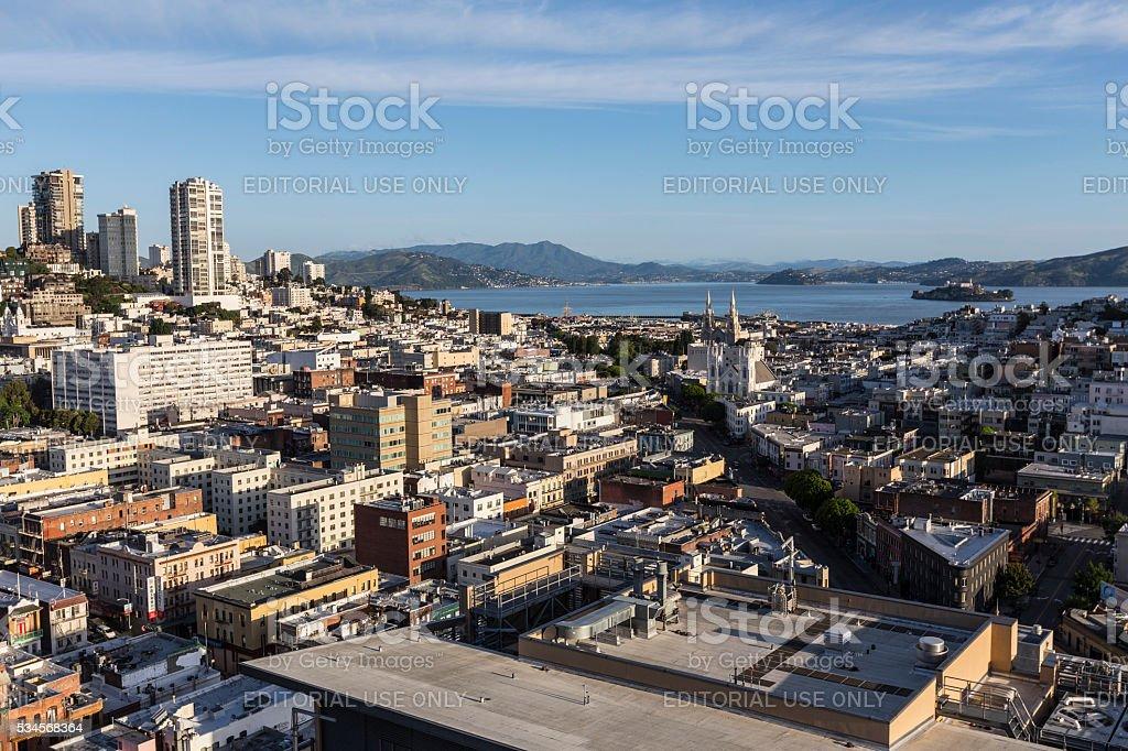 San Francisco North Beach and Russian Hill stock photo