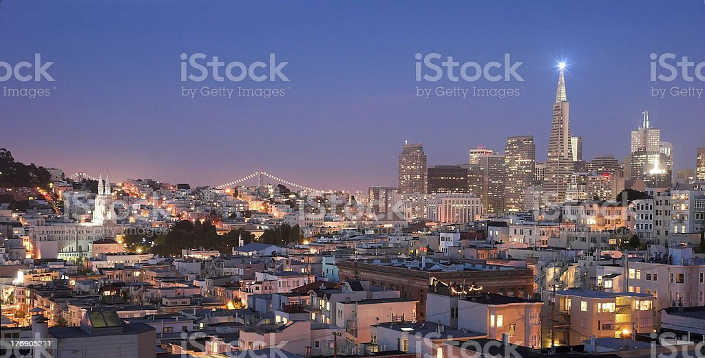 San Francisco - North Beach at night 3 royalty-free stock photo