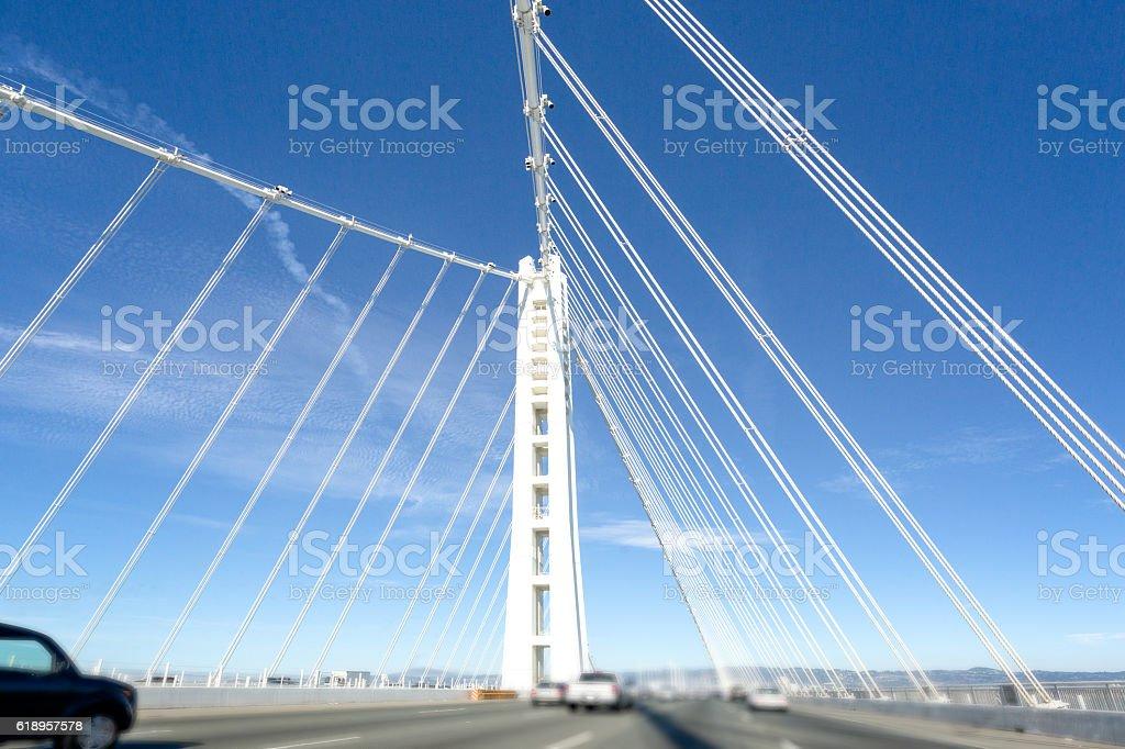 San Francisco- Oakland Bay Bridge, California, USA stock photo