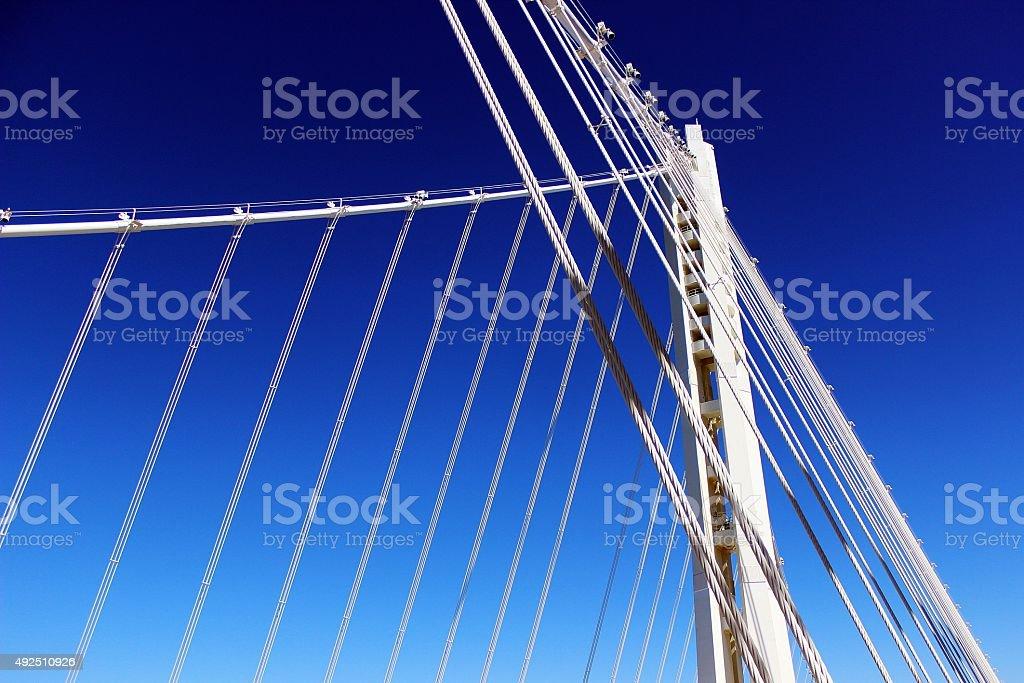 San Francisco Oakland Bay Bridge New Tower stock photo