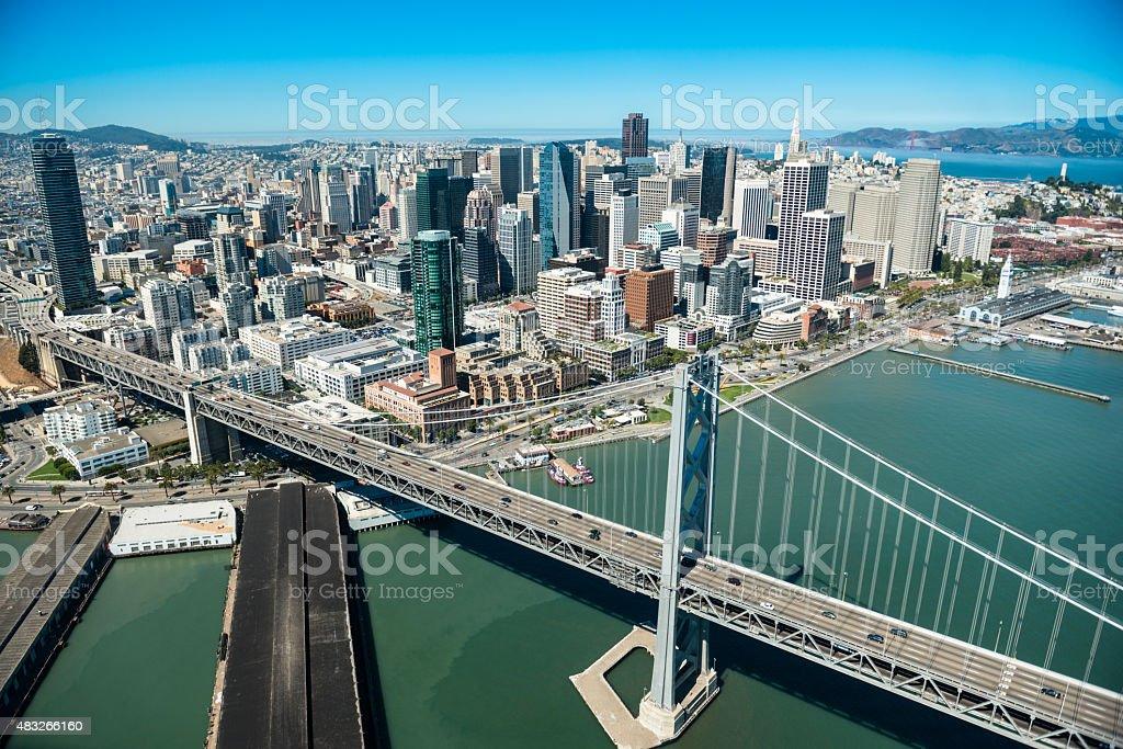 San Francisco Oakland Bay bridge stock photo