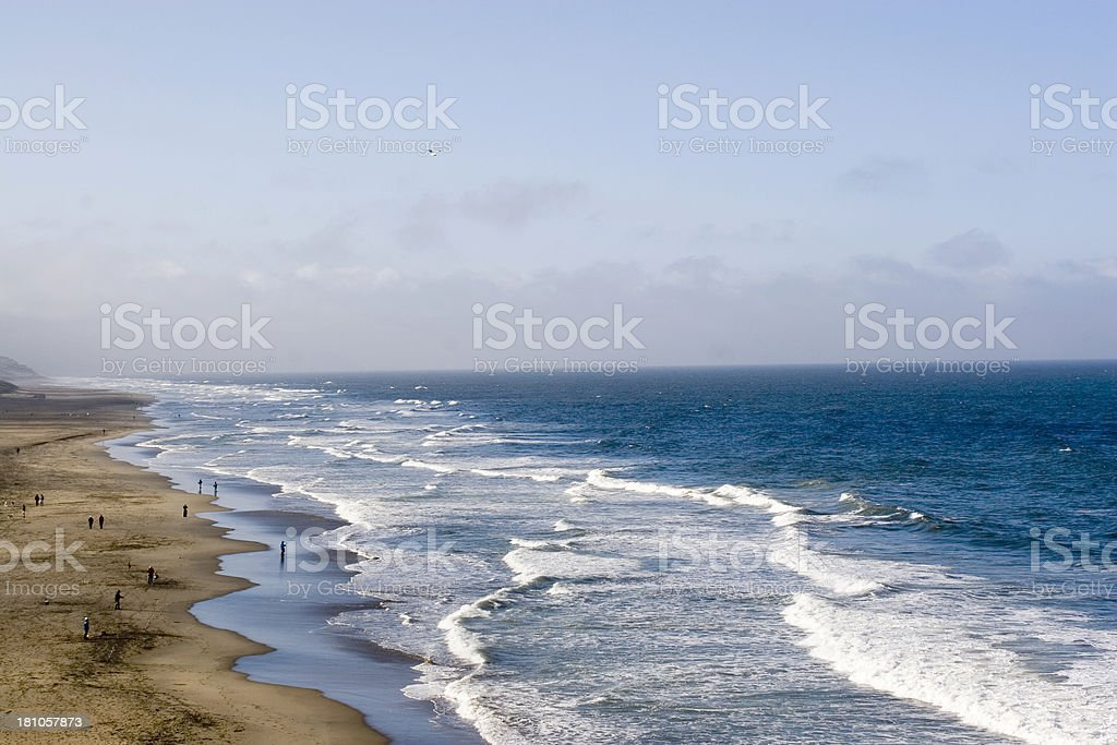 San Francisco: Ocean Beach royalty-free stock photo