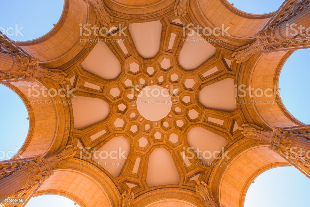 San Francisco Palace of Fine Arts Architectural Detail stock photo