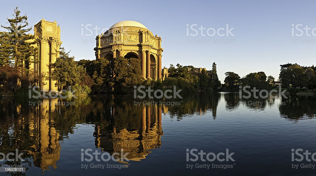 San Francisco Palace of Fine Arts museum Pacific Heights California stock photo