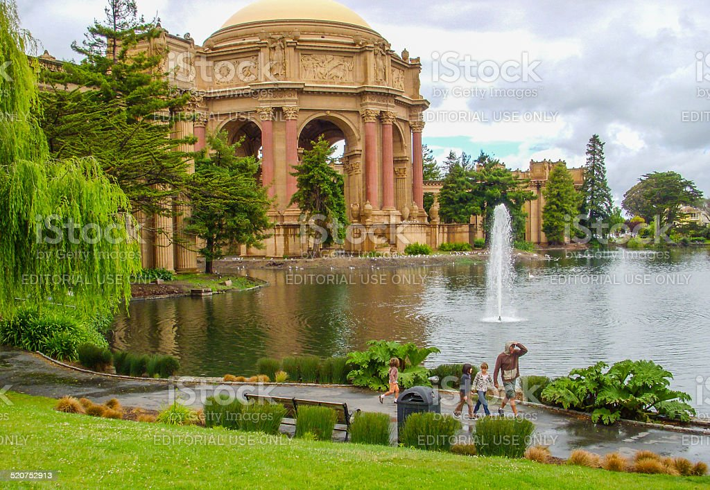 San Francisco - Palace of Fine Arts stock photo