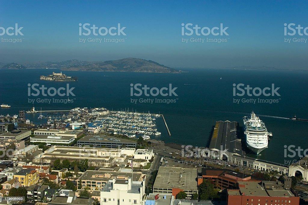 San Francisco, pier 39 and 43 royalty-free stock photo