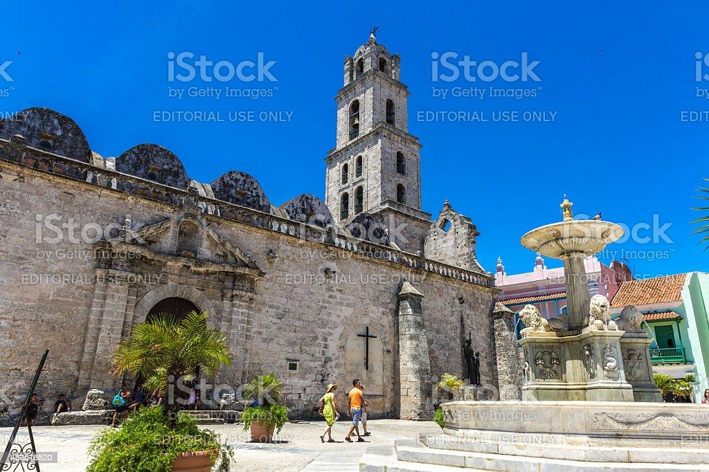 San Francisco Plaza in Havana, Cuba stock photo